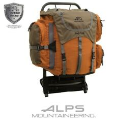 Mountaineering Red Rock Frame Backpack Aluminum Polyester Ripstop Rust Boy Scout