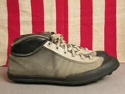 Vintage 1940s Viking Football Rugby Sneakers Canvas Turf Cleats 45 Norway Shoes