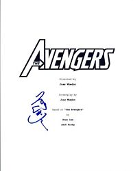 Joss Whedon Signed Autographed The Avengers Movie Script Screenwriter Coa Vd