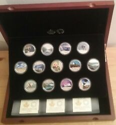 1867-2017 13-coins Geographic Set Celebrating Canadaand039s 150th Puresilver 13coins