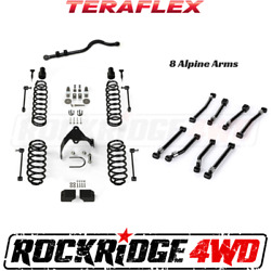 Teraflex 3 Lift Kit W/ 8 Alpine Control Arms For 07-18 Jeep Wrangler Jk 2-door