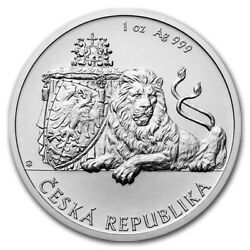2017 Niue 1 1 Oz Silver Czech Lion Coin Bu In Stock First Only 10k Minted