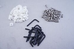 16 Sets Of License Plate Stainless Steel Screws Locking Fasteners Anti-theft