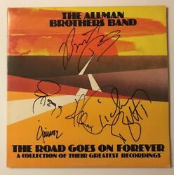 The Allman Brothers Signed X4 The Road Goes On Forever Vinyl Lp Jsa Loa Z08645