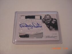 Randy White 14 Panini Flawless 3clr Game Used Dual Jersey Auto 14/25 Signed Card