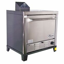 Peerless Ovens Counter Top Gas Pizza Oven W/ Four 24x19 Stone Hearth Decks