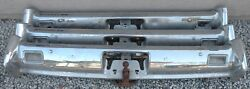 X Lincoln New Triple Plated Chrome Rear Back Bumper 1961 1962 1963 61 62 63 Oem