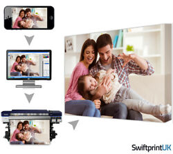 Personalised Canvas Print Your Photo Pictures Scratch Resistant Ecosolvent Ink