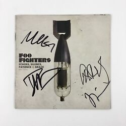 Foo Fighters Signed Autographed Echoes Silence Patience And Grace Cd Proof