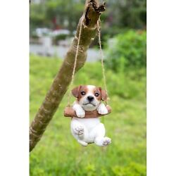 Jack Russell Terrier Puppy Dog Hanging New Life Like Figurine Home Garden Decor