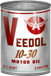 Veedol Gas Station Reproduction Motor Oil Can Metal Sign - 12 X 18 Rvg251
