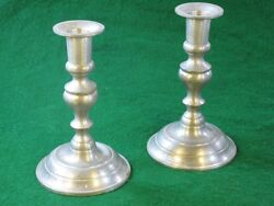 Woodbury Pewter Candle Holders Pair 6.1/2 High Post-1940