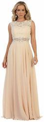 SPECIAL OCCASION DEMURE DESIGNER PROM PARTY GOWN FLOWY EVENING FORMAL LONG DRESS
