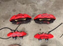 2012 Mercedes Cls63 E63 Amg Calipers And Rotors Set Brembo Brake Kit System