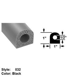 Water/weather Resistant Hollow Foam Rubber Surface Mount Seal Ht. 1 X Wd. 1