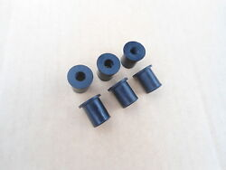 6 Nos Rubber Well Nuts 1/4x20 Fits Gm Station Wagon Luggage Carrier Rack
