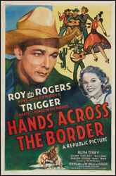 Hands Across The Border Western Movie Poster Vintage Roy Rogers