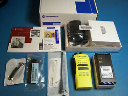 Motorola Ht1250 Uhf 450-527mhz 128 Channel Yellow Case New Tested