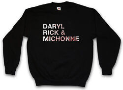 Daryl Rick And Michone Sweatshirt Pullover The Walking Rick Grimes Dead Living