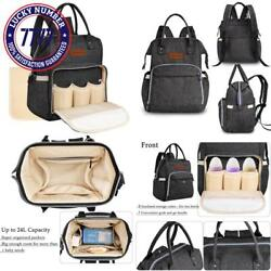 All In One Waterproof Diaper Bag Backpack Baby Nappy Bag For Boy And Girl Fit St