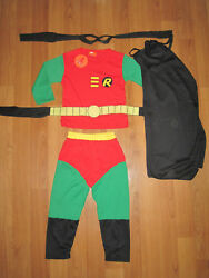 COSPLAY ROBIN Batmans Sidekick Kids costumes Sizes 2 10 BRAND NEW **MELBOURNE