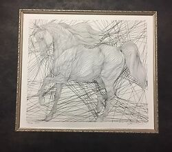 Guillaume Azoulay Original Signed Ink On Paper Trojan Horse 7 2003 Retail 9500