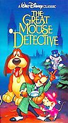 Disneyand039s Classic Black Diamond The Great Mouse Detective 1360 Vhs Untested Fs