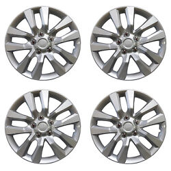 1049 Universal Wheel Cover Abs Wheel Skins Set Hub Caps Silver 16and039and039 - Set Of 4