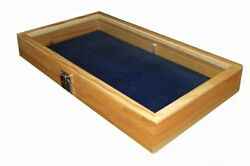Key Lock Wood Jewelry Collectibles Display Organizer Case Box Choose Pad Color