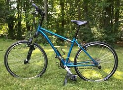 Blue Rodriguez Bicycle On And Off Road Touring Suspension Fork Travel Option