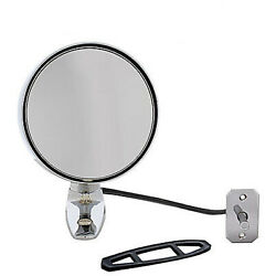 64 65 66 Ford Mustang Outside Left Chrome Glass Side Rear View Mirror W/ Remote