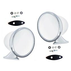 4 Talbot Shelby British Style Fender Door Mounted Gt Racing Chrome Mirrors Pair