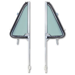 64 65 66 Chevy Gmc Pickup Truck L And R Door New Tinted Vent Window Assembly Pair