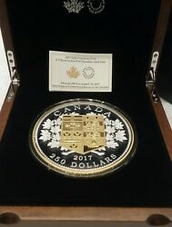 2017 Tribut First Canadian Gold Coin 250 Kilogram Pure Silver Proof Coin Canada