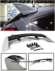 For 13-up Focus Hatchback Rs Style Rear Roof Spoiler W/ Wing Riser Extension Kit