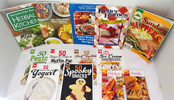 13 ASSORTED Paperback Cookbooks amp; Booklets: Herbs Slow Cooking Chicken Etc.