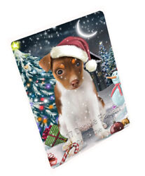 Holly Jolly Christmas Rat-Terriers Dog Woven Throw Sherpa Blanket T155
