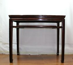 A Chinese Antique Ming Dynasty Style Walnut Wood Table Made In Middle Qing