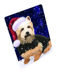 Let it Snow Christmas Australian Terriers Dog Woven Throw Sherpa Blanket T111