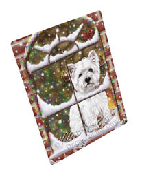 Come Home Christmas West Highland Terriers Dog Woven Throw Sherpa Blanket T267