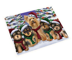 Yorkshire Terriers Dog Christmas Family Holiday Woven Throw Sherpa Blanket T412