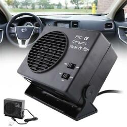 12V 2 in1 Plastic & Ceramics Car Van Fan Heater Warmer Window Defroster Demister