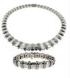 $320000 Breathtaking Necklace and Bracelet Brilliant Shine in Platinum