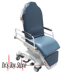 Stryker 5050 Stretcher Chair Gurney Patient Transport Blue