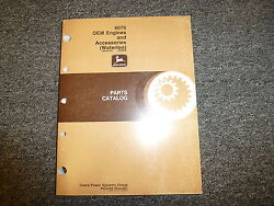 John Deere 6076 Oem Engine And Accessories Parts Catalog Manual Sn -499999 Pc2182