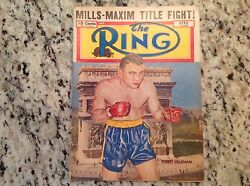 April 1950 The Ring Boxing Magazine Mills Maxim Louis Charles Dempsey