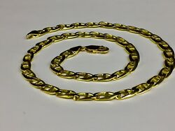 10k Solid Yellow Gold Anchor Mariner Link Chain/necklace 6 Mm 30 Grams 18