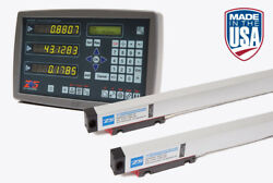 Digital Readout 2 Axis Dro Kit For 9x48 Bridgeport Mill 2 Glass Scales 12+36
