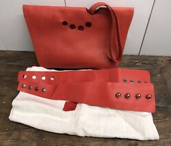 Designer Helga Kovacs Red Leather Bag