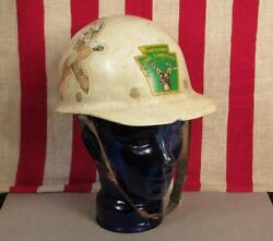 Vintage 1950s Pennsylvania Pa. Game Commission Safety Helmet Hard Hat Hunting